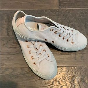 Grey / Blush Pink Converse All Stars NWOT
